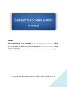 GME HOTEL BOOKING SYSTEM MANUAL