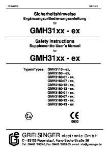 GMH31xx - ex. GMH31xx - ex
