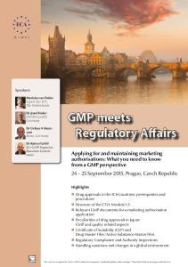 GMP meets Regulatory Affairs