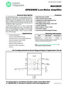 GNSS Low-Noise Amplifier