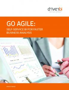 GO AGILE: SELF-SERVICE BI FOR FASTER BUSINESS ANALYSIS