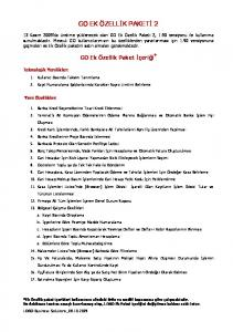 GO EK ÖZELLİK PAKETİ 2