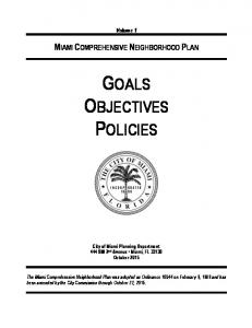 GOALS OBJECTIVES POLICIES