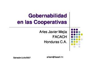 Gobernabilidad en las Cooperativas