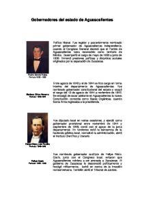 Gobernadores del estado de Aguascalientes