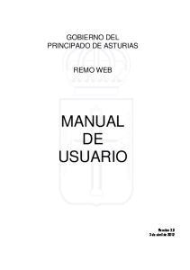 GOBIERNO DEL PRINCIPADO DE ASTURIAS REMO WEB MANUAL DE USUARIO