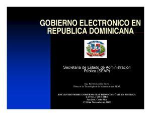 GOBIERNO ELECTRONICO EN REPUBLICA DOMINICANA