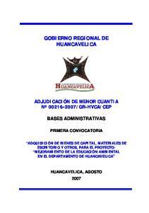 GOBIERNO REGIONAL DE HUANCAVELICA