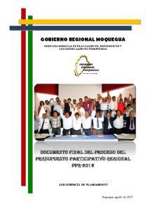 GOBIERNO REGIONAL MOQUEGUA