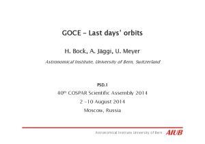 GOCE Last days orbits