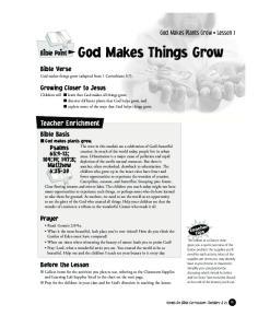 God Makes Things Grow