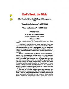 God s Book, the Bible