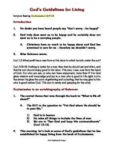 God s Guidelines for Living