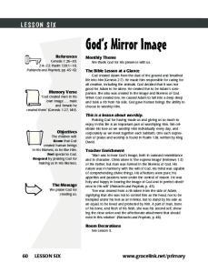 God s Mirror Image LESSON SIX. 60 LESSON SIX