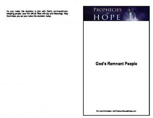 God s Remnant People