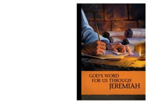 GOD S WORD FOR US THROUGH JEREMIAH