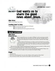 God wants us to share the good news about Jesus
