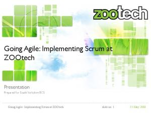 Going Agile: Implementing Scrum at ZOOtech slide no. 1