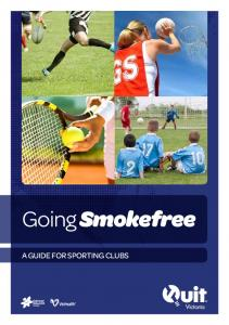 Going Smokefree A GUIDE FOR SPORTING CLUBS