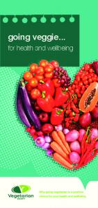 going veggie... for health and wellbeing
