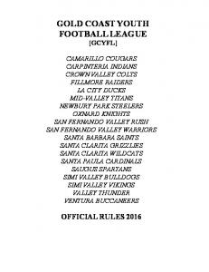 GOLD COAST YOUTH FOOTBALL LEAGUE [GCYFL]