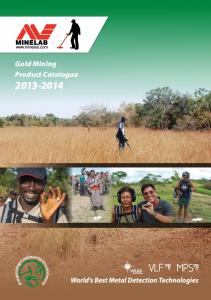 Gold Mining Product Catalogue