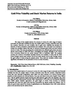 Gold Price Volatility and Stock Market Returns in India