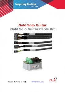 Gold Solo Guitar Gold Solo Guitar Cable Kit
