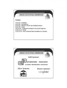 Gold Sponsor: Silver Sponsor: Bronze Sponsor: Schedule: