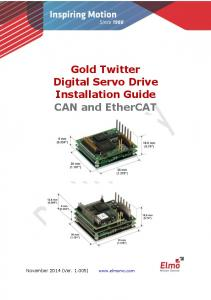 Gold Twitter Digital Servo Drive Installation Guide CAN and EtherCAT