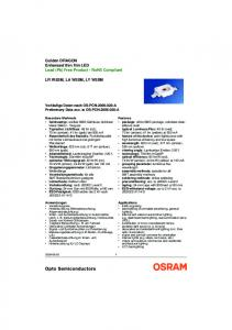 Golden DRAGON Enhanced thin film LED Lead (Pb) Free Product - RoHS Compliant LR W5SM, LA W5SM, LY W5SM