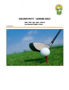 GOLDEN PUTT - LEISURE GOLF
