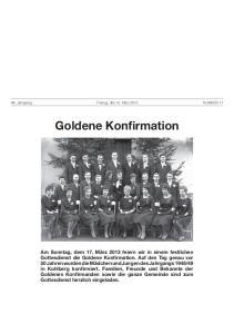 Goldene Konfirmation