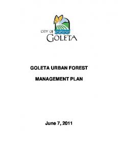 GOLETA URBAN FOREST MANAGEMENT PLAN