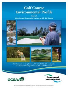 Golf Course Environmental Profile