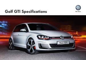 Golf GTI Specifications. Das Auto