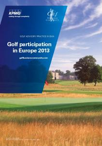 Golf participation in Europe 2013