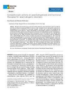Gonadotoropin actions on spermatogenesis and hormonal therapies for spermatogenic disorders