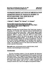 GONADOTROPIC ACTION OF MEDICATION ADMINISTERED IN VARIOUS DOSES TO SYNCHRONISE THE OESTRUS OF ANOESTRAL SHEEP**