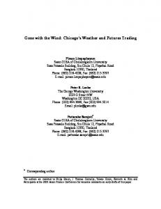 Gone with the Wind: Chicago s Weather and Futures Trading