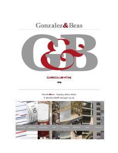 Gonzalez&Beas CURRICULUM VITAE