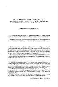 GONZALO BILBAO, DIBUJANTE Y ACUARELISTA: NUEVAS APORTACIONES