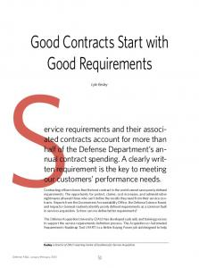 Good Contracts Start with Good Requirements