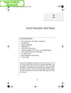 Good Examples, Bad News