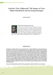 Good for New Nollywood : The Impact of New Online Distribution and Licensing Strategies