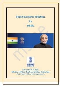 Good Governance Initiatives For MSME