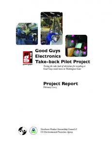Good Guys Electronics Take-back Pilot Project. Project Report
