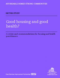 Good housing and good health?