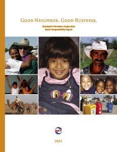 Good Neighbor. Good Business. Occidental Petroleum Corporation Social Responsibility Report