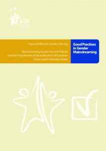 Good Practices in Gender Mainstreaming